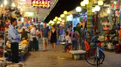 Night market in Siem Reap Stock Footage