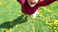 Adorable cute child, spinning around in his mother hands, laughing Arkistovideo