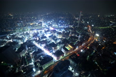 6K Time Lapse of Tokyo Metropolitan Cityscape at Night in Ikebukuro Stock Footage