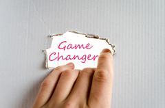 Game Changer Concept Stock Photos
