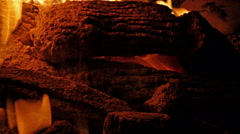 bonfire close up 4k - stock footage