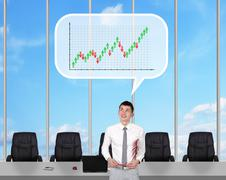 Broker dreaming Stock Illustration