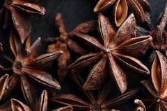Star anise seeds Stock Photos