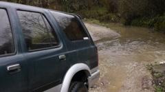 Creek along Road under Bridge 4 - stock footage