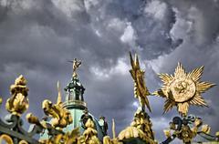 Golden ornaments and sculpture of the  Schloss Charlottenburg, Berlin Stock Photos