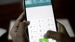 Mobile Phone Dialer. Touchscreen. Stock Footage