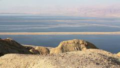 Beautiful coast of the Dead Sea . - stock footage
