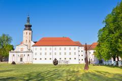Monastery Kostanjevica na Krki, Slovenia, Europe. Stock Photos