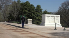 Arlington National Cemetery Tomb Unknown Soldier Guard March 4K 016 Stock Footage