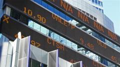 Stock market ticker, Times Square, Manhattan 4k Arkistovideo