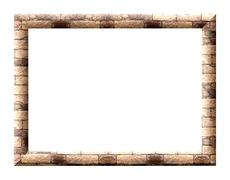 Photo frame wall Stock Illustration
