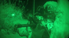 US Night Vision Soldier City - stock footage