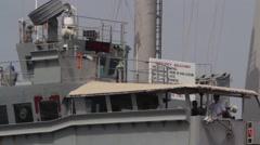 US Navy Crew On Ship Stock Footage