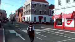 Grenada island Caribbean Sea 053 St. George's city crossroads in downtown Stock Footage