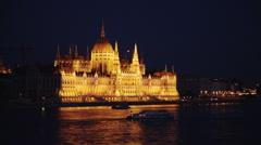 budapest parliament - stock footage