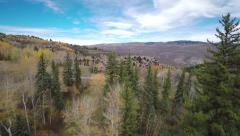 Colorado Mountain resort aerial Stock Footage
