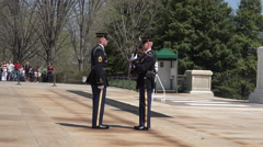 Arlington National Cemetery Change Guard of Honor fallout 4K 019 Stock Footage