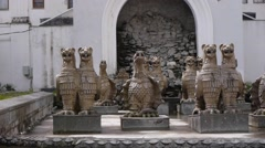 Gryphons Fountain in Sukhumi 1 Stock Footage