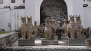Stock Video Footage of Gryphons Fountain in Sukhumi 1