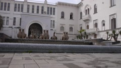 Gryphons Fountain in Sukhumi 3 - stock footage