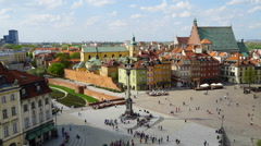Timelapse - Old Town in Warsaw, Poland - stock footage