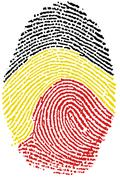 Belgian flag Fingerprint - stock photo