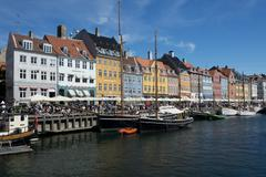 The Colorful Buildings of Nyhavn in Copenhagen - stock photo