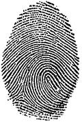 Black and White Fingerprint Kuvituskuvat