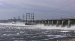 The hydroelectric power station. Timelapse - stock footage