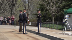 Arlington National Cemetery Change Honor Guard 4K 019 Stock Footage