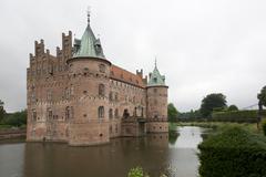 Egeskov Slot in Denmark - stock photo