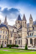 Stock Photo of Abbaye aux Hommes (Men's Abbey) in Caen, Calvados, Normandy, France