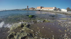 Rhodes island Rhodes  port, Dodecanese, Greece. 4K Stock Footage