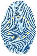 Europe flag Fingerprint - stock photo