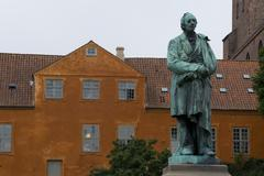 Statue of Hans Christian Andersen in Odense - stock photo