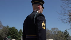 Arlington National Cemetery Change of Guard 1 4K 018 Stock Footage