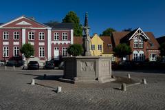 Cityscape of Ribe, Denmark - stock photo