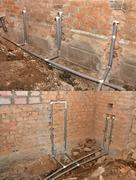 Installation of mains water Stock Photos