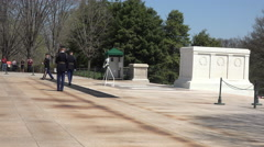 Arlington National Cemetery Changing Guard of Honor 4K 019 Stock Footage