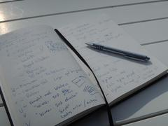 Idea journal - a tool for the creative mind - stock photo