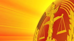 Animated emblem of China justice and law Stock Footage