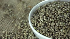 Portion of Hemp Seeds (not loopable) Stock Footage