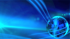 Fantasy vitreous ball reflects blue lights Stock Footage
