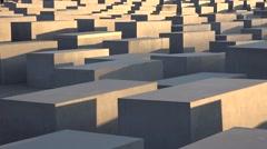 ULTRA HD 4K Jewish Holocaust Memorial Berlin landmark stelae stone day emblem  Stock Footage
