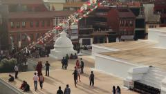 The Boudhanath Stupa, Kathmandu, Nepal Stock Footage