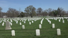 Arlington National Cemetery driving headstones POV 4K Stock Footage