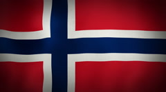 Flag Norway Stock Footage