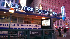 New York Police Dept NYPD - stock footage