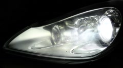 Including lighting headlights machine - stock footage