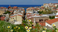 Beautiful Chania, Crete in Spring Stock Footage
